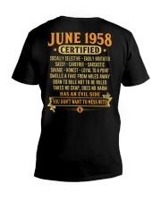 MESS WITH YEAR 58-6 V-Neck T-Shirt thumbnail