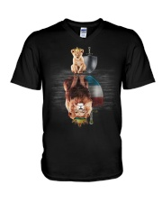 Lion-Luxembourg V-Neck T-Shirt thumbnail