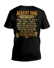 MESS WITH YEAR 80-8 V-Neck T-Shirt thumbnail