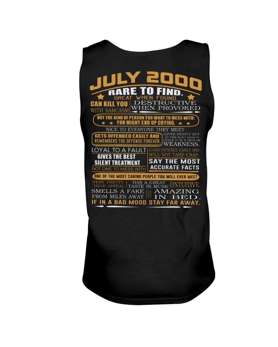 YEAR GREAT 00-7 Unisex Tank