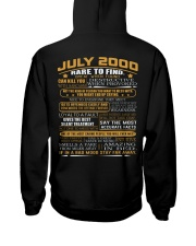 YEAR GREAT 00-7 Hooded Sweatshirt back