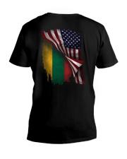 Flag-Lithuania V-Neck T-Shirt thumbnail