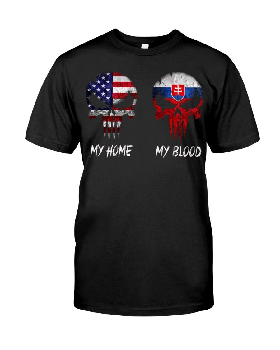 MY HOME SKULL Slovakia Classic T-Shirt