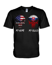 MY HOME SKULL Slovakia V-Neck T-Shirt thumbnail