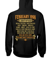 MESS WITH YEAR 98-2 Hooded Sweatshirt back