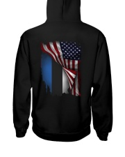 Flag-America-Estonia Hooded Sweatshirt back