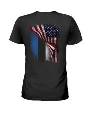 Flag-America-Estonia Ladies T-Shirt thumbnail
