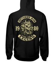 MAN 1980- 9 Hooded Sweatshirt back