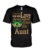 I NEVER KNOW- AUNT BRAZIL V-Neck T-Shirt thumbnail