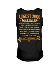 MESS WITH YEAR 00-8 Unisex Tank back