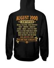 MESS WITH YEAR 00-8 Hooded Sweatshirt back