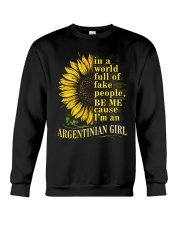 Sunflower Girl-Argentinian Crewneck Sweatshirt thumbnail