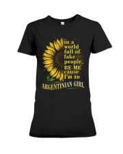 Sunflower Girl-Argentinian Premium Fit Ladies Tee thumbnail