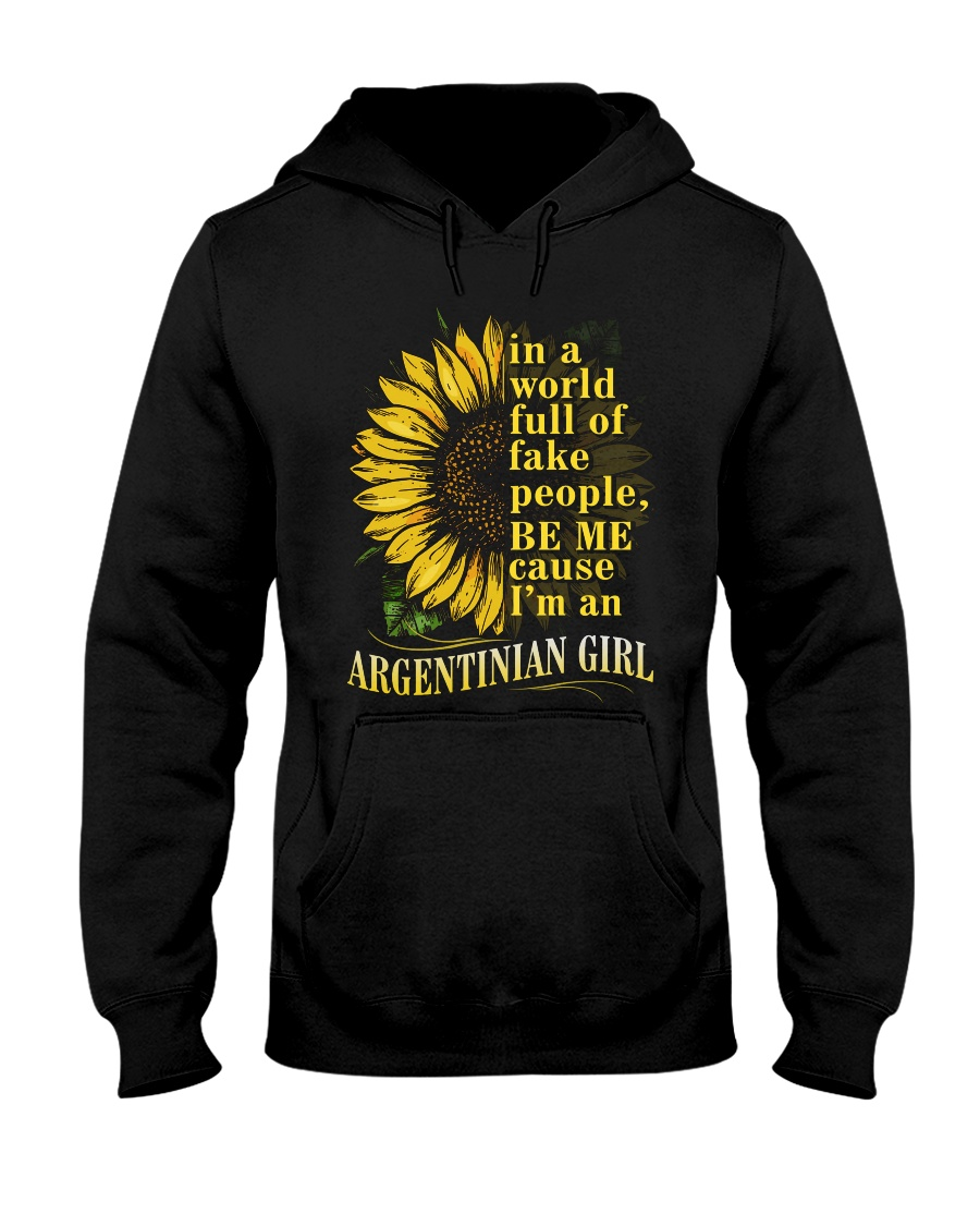 Sunflower Girl-Argentinian Hooded Sweatshirt