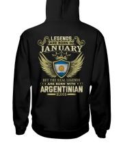 Blood Argentinian 01 Hooded Sweatshirt back