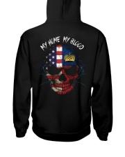 MY HOME - BLOOD Liechtenstein Hooded Sweatshirt back