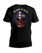 MY HOME - BLOOD Liechtenstein V-Neck T-Shirt thumbnail