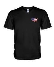 Map-AMERICA V-Neck T-Shirt thumbnail