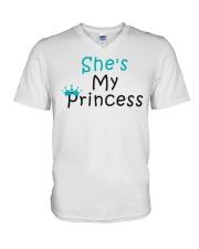 COUPLE- SHE IS MY PRINCESS V-Neck T-Shirt thumbnail