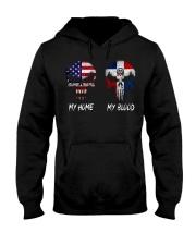 MY HOME SKULL dominican Hooded Sweatshirt thumbnail