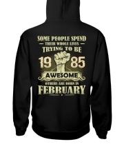 Be Awesome 1985- 2 Hooded Sweatshirt back