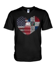 MY HEART Dominican V-Neck T-Shirt thumbnail