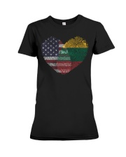 MY HEART Lithuania Premium Fit Ladies Tee thumbnail