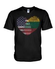 MY HEART Lithuania V-Neck T-Shirt thumbnail