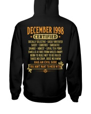 MESS WITH YEAR 98-12 Hooded Sweatshirt back