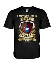 I MAY NOT Scotland V-Neck T-Shirt thumbnail