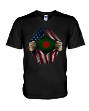 American-Bangladesh V-Neck T-Shirt thumbnail