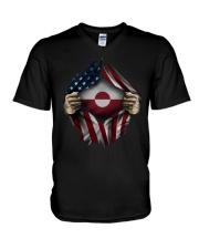 American-Greenland V-Neck T-Shirt thumbnail