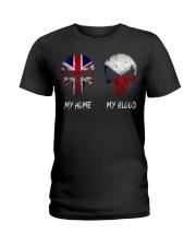 Home United Kingdom - Blood Czech Republic Ladies T-Shirt thumbnail