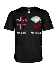 Home United Kingdom - Blood Czech Republic V-Neck T-Shirt thumbnail