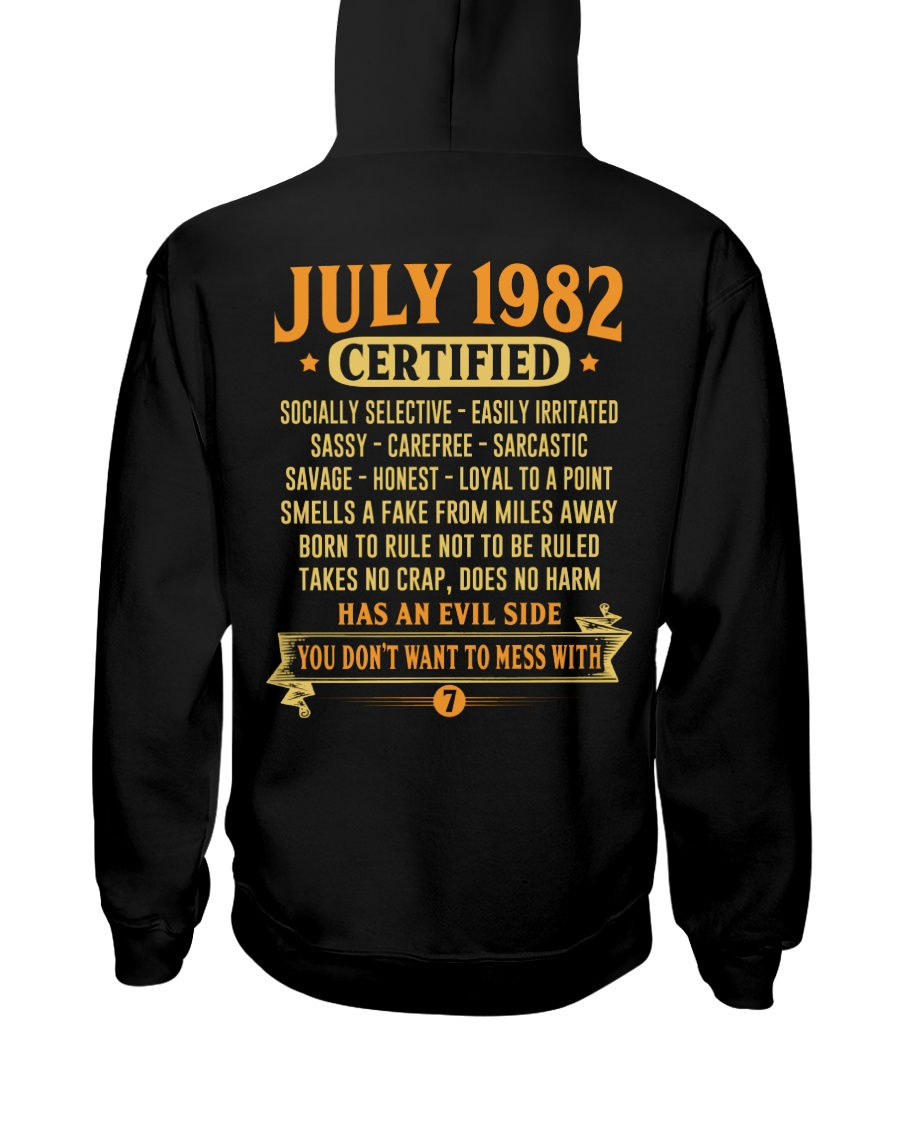 MESS WITH YEAR 82-7 Hooded Sweatshirt