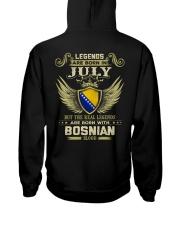 Blood Bosnian 07 Hooded Sweatshirt back