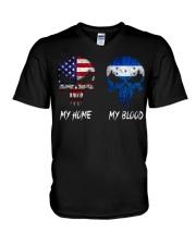 MY HOME SKULL Honduras V-Neck T-Shirt thumbnail