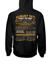 YEAR GREAT 71-8 Hooded Sweatshirt back