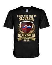 I MAY NOT Slovakia V-Neck T-Shirt thumbnail