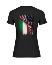 Flag-America-Italy Premium Fit Ladies Tee thumbnail