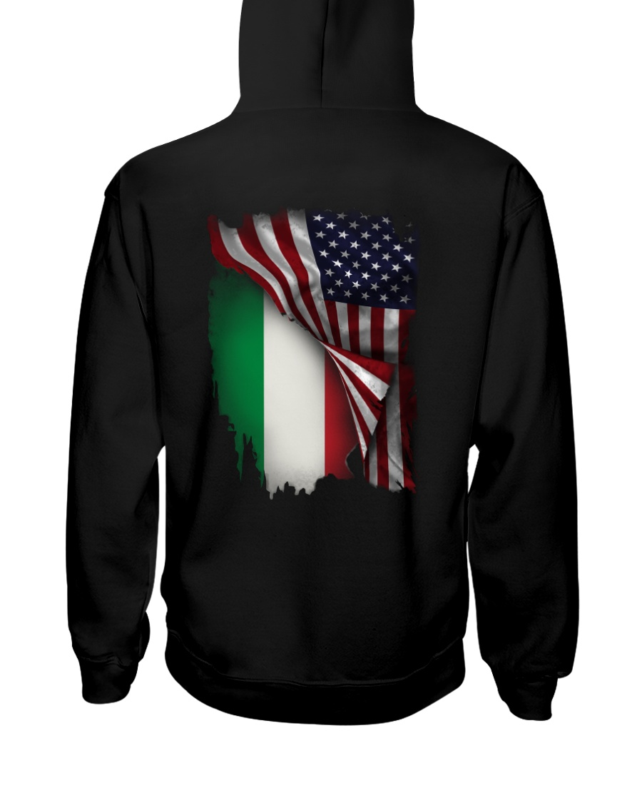 Flag-America-Italy Hooded Sweatshirt