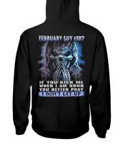 I DONT GET UP 87-2 Hooded Sweatshirt back