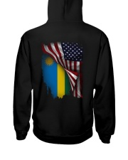 Flag-America-Rwanda Hooded Sweatshirt back