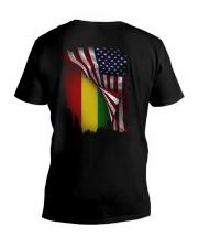 Flag-America-Ethiopia V-Neck T-Shirt thumbnail