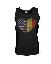 MY HEART Belgium Unisex Tank thumbnail
