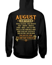 MESS WITH MAN 8 Hooded Sweatshirt back