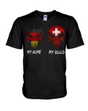 SKULL GERMANY - Switzerland V-Neck T-Shirt thumbnail