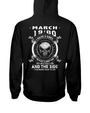 3SIDE 80-03 Hooded Sweatshirt back