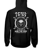 3SIDE 87-04 Hooded Sweatshirt back