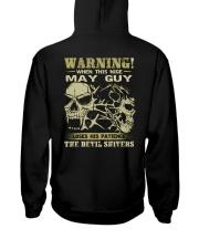 WARNING 5 Hooded Sweatshirt back